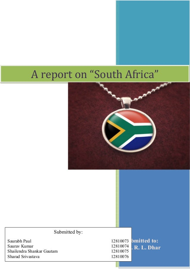 Report - South Africa