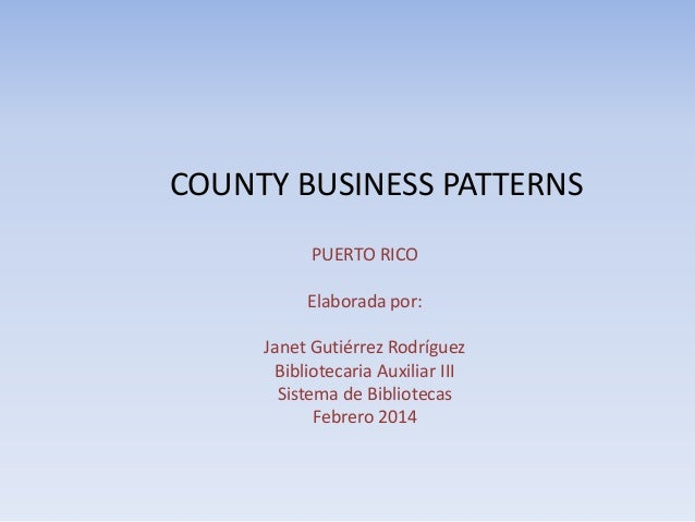 County business patterns 2014