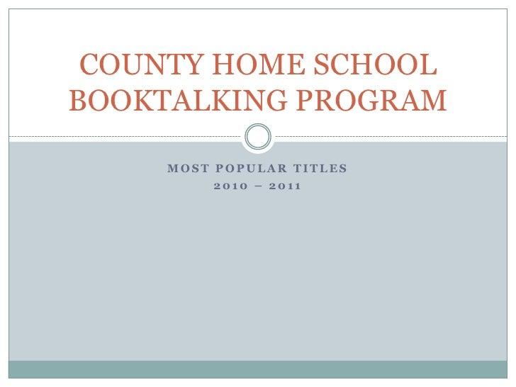 County homeschoolfavbooks2010 2011