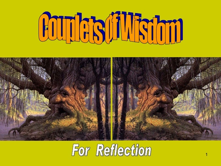 Couplets Of Wisdom For  Reflection