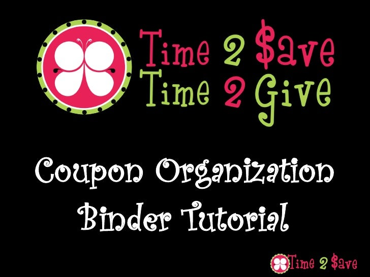Coupon Organization   Binder Tutorial
