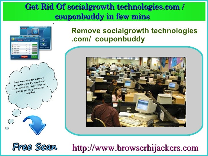 Get Rid Of socialgrowth technologies.com /                    couponbuddy in few mins                     couponbuddy in f...