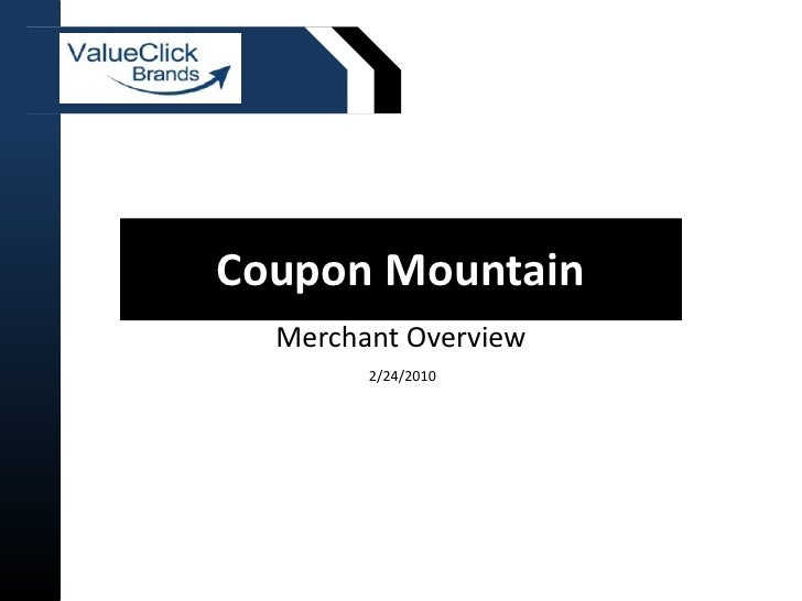 Coupon Mountain Merchant Overview