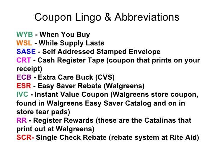 Ss coupon lingo