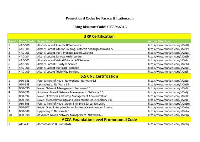 PromotionalCodesforPasscertification.com UsingDiscountCode:4U55966313  3RPCertification Serial ExamCode Exam...