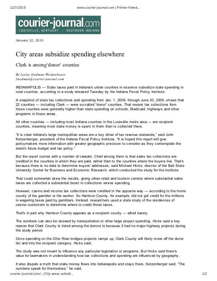 1/27/2010                                  www.courier-journal.com | Printer-friend…   January 12, 2010   City areas subsi...