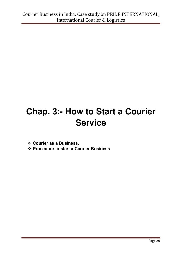 Courier Services Business Plan