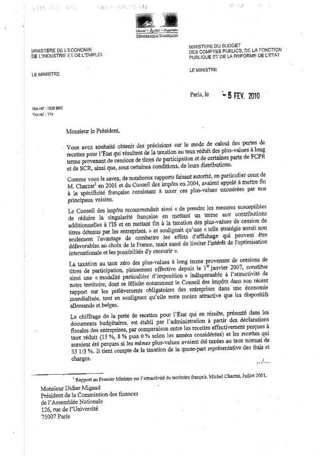 Slate.fr-Courrier plus values 5 fév 2010