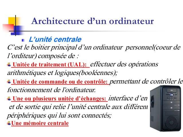 Cours d 39 informatique du prof heimer for Architecture informatique definition