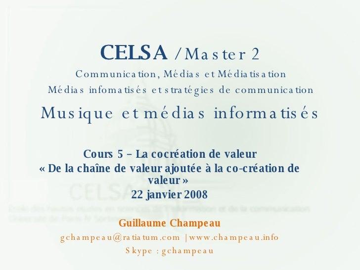 Cours 5 - CELSA - La cocréation
