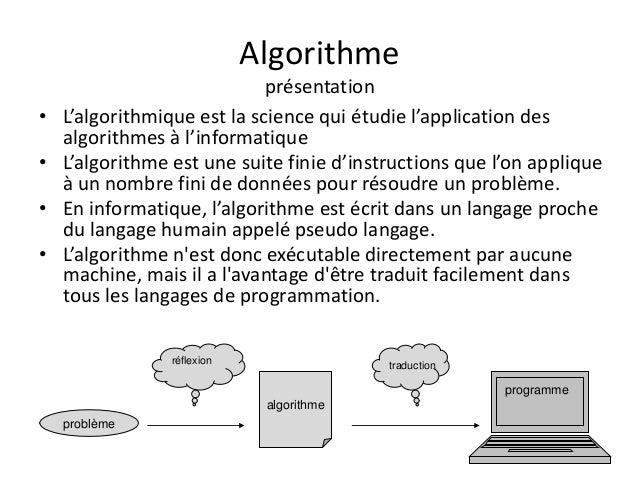 initiation a l algorithmique pdf