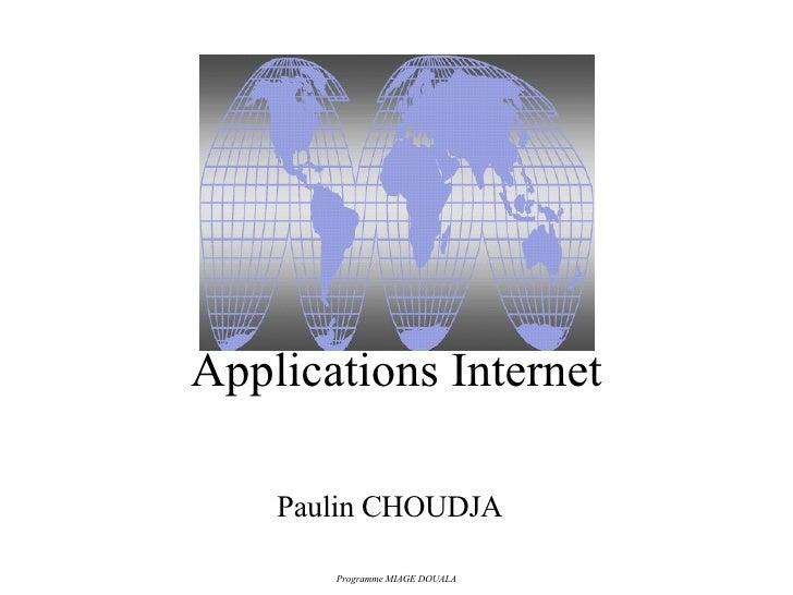 Applications Internet Paulin CHOUDJA