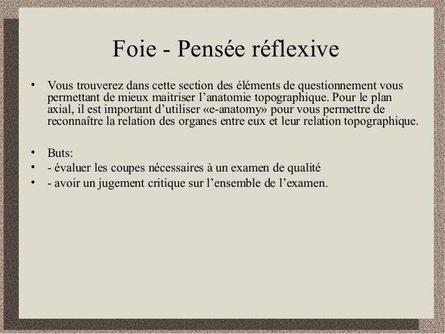 Cours 2 pensée réflexive foie vésicule biliaire et pancréas