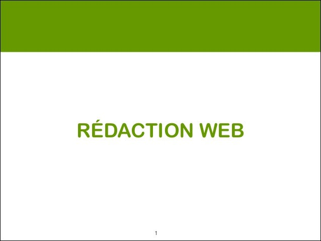 RÉDACTION WEB      !1