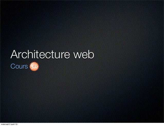 Cours 3/3 - Architecture Web