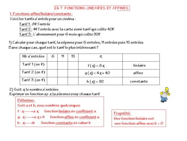 Cours 3.7. affine+linéaire