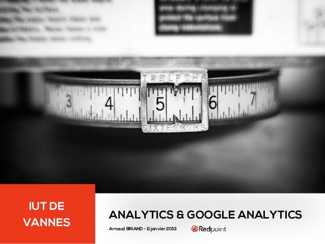 Cours Analytics Google Analytics - IUT de Vannes