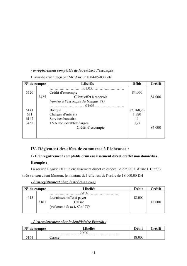 Cours de coptabilite - Exercice d enregistrement comptable ...