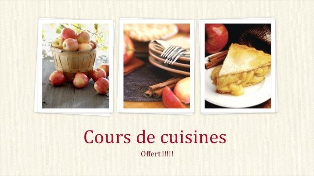 Cours de cuisines Offert !!!!!