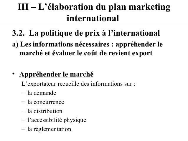 YoussiLass cours de marketing international