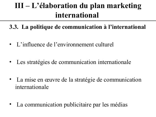 YoussiLass cours de marketing international