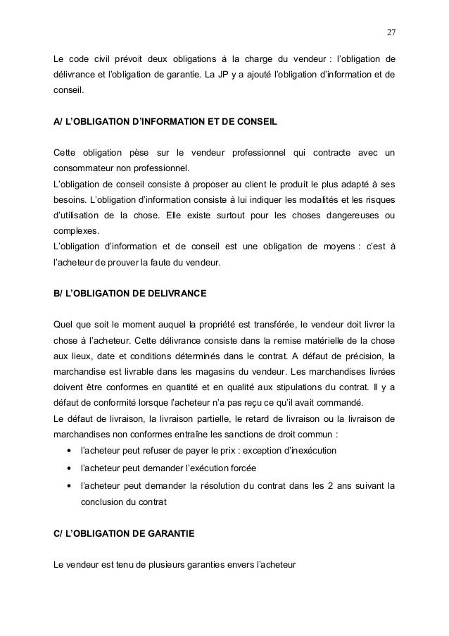 Dissertation droit civil exemple