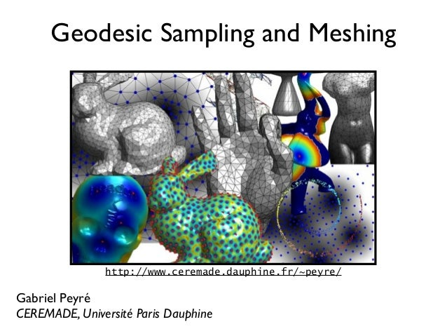 Geodesic Sampling and Meshing               http://www.ceremade.dauphine.fr/~peyre/Gabriel PeyréCEREMADE, Université Paris...