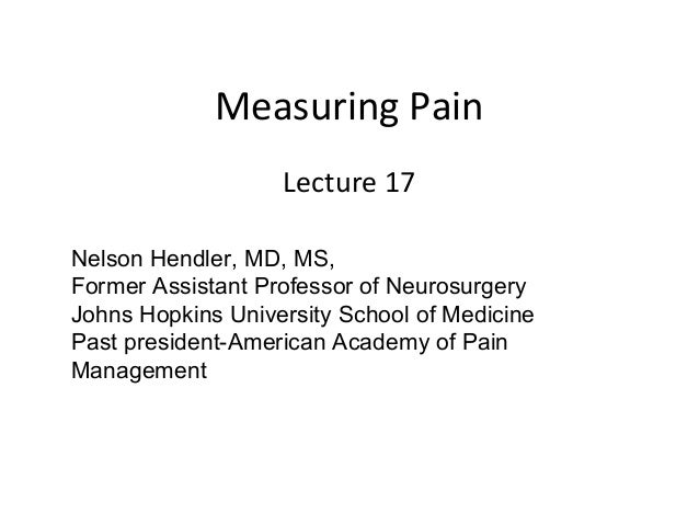 Course 17 measuring pain