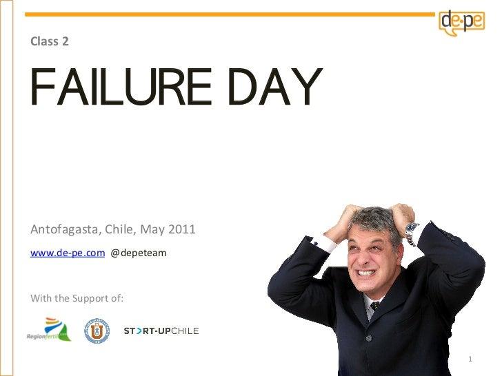 Course 2 - 1st session: Failure