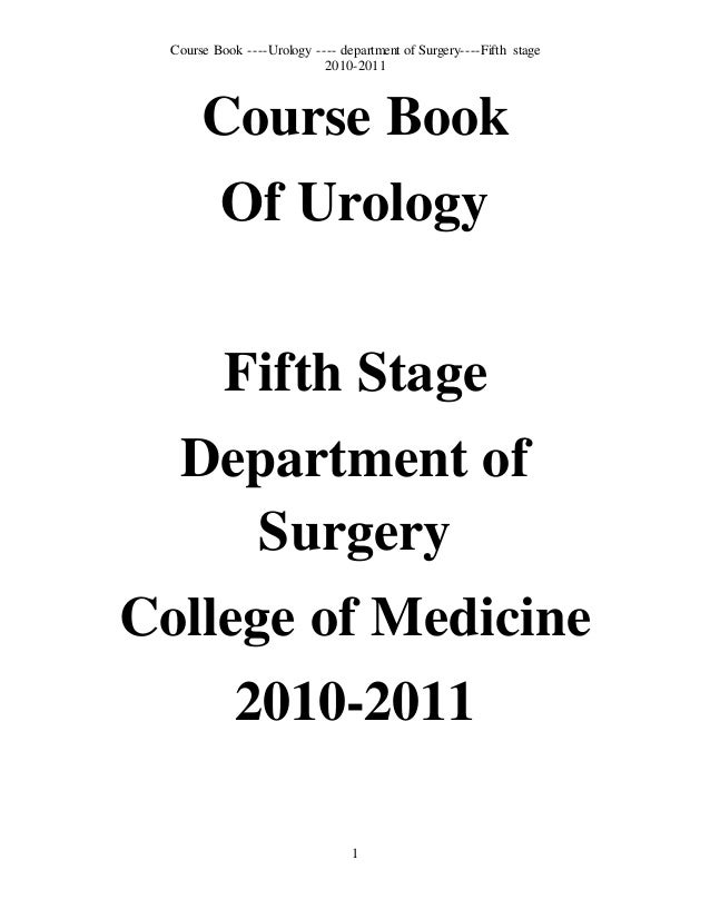 New: 5th year Course Book/Urology
