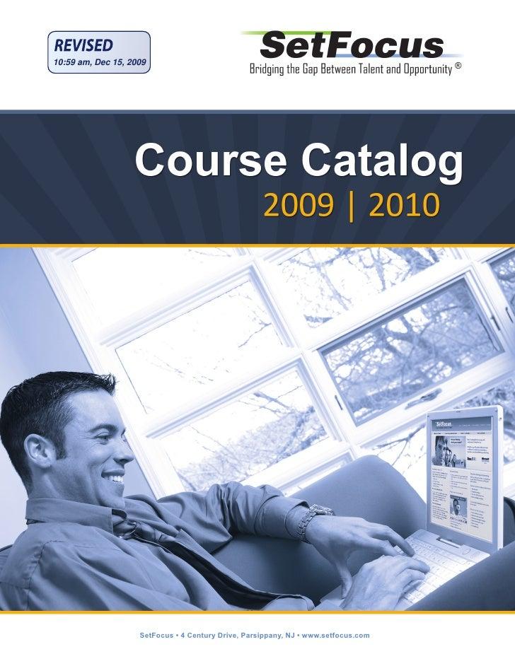 Course Catalog 2009 2010