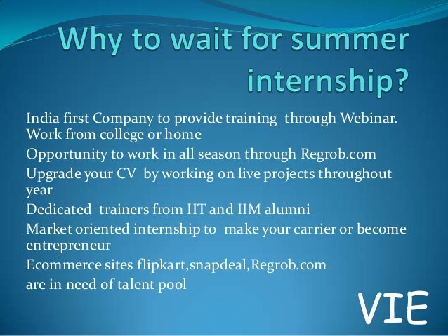 India first Company to provide training through Webinar. Work from college or home Opportunity to work in all season throu...
