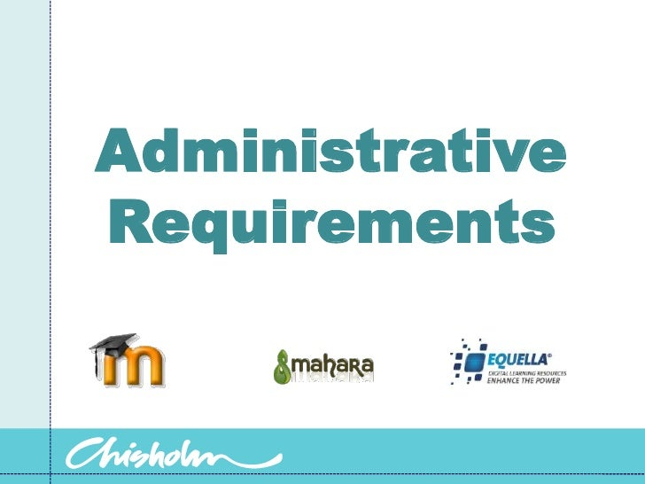 Administrative Requirements<br />
