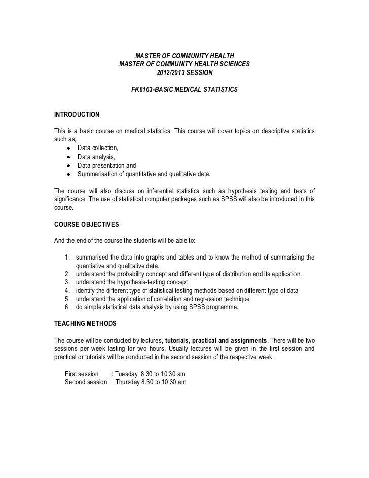Studyguide FK6163 Basic Statistics UKM