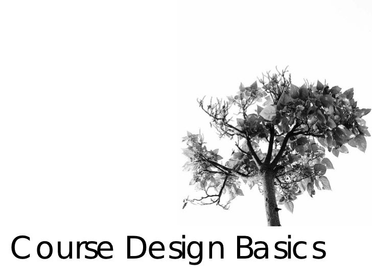 Course Design Basics