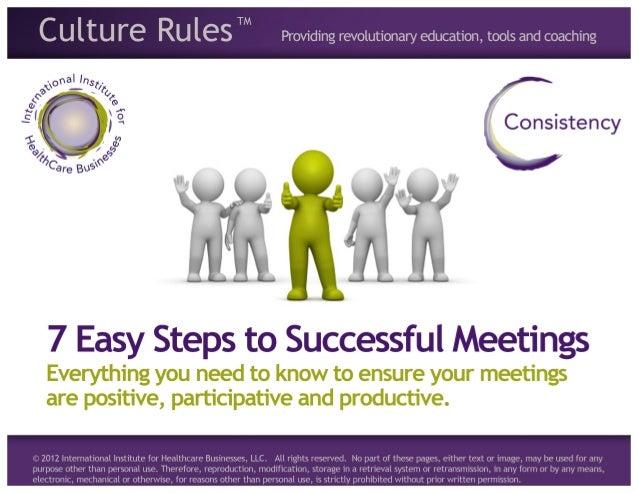 7 Easy Steps to Successful Meetings