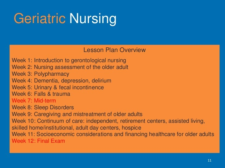 geriatric nursing How to become a geriatric nurse there are several types of nurses that work in this field some are specialized in a specific field of nursing like clinical or mental health nursing, while others are generalists like registered nurses and lpns (licensed practical nurses).