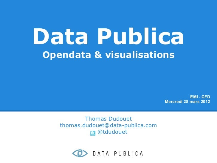 Data PublicaOpendata & visualisations                                                 EMI - CFD                           ...