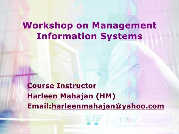 Course module mba