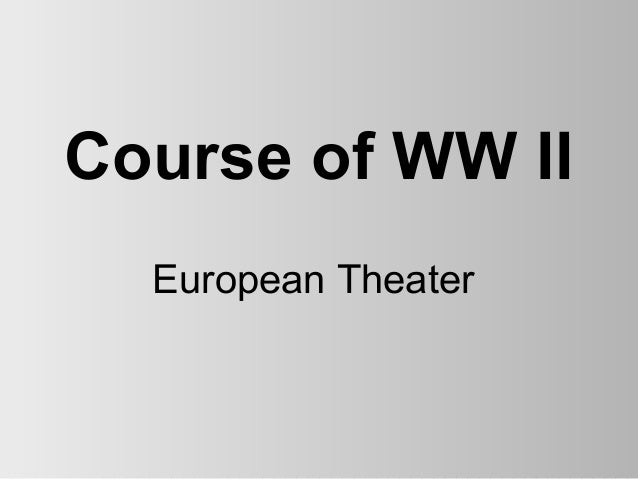 Course of WW II  European Theater