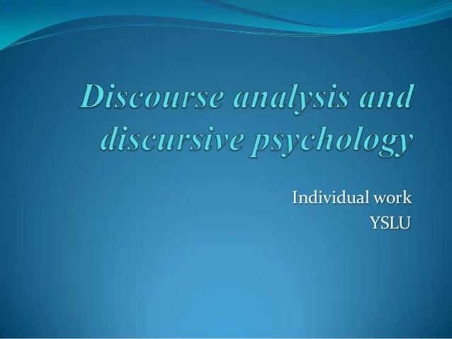 Individual work YSLU