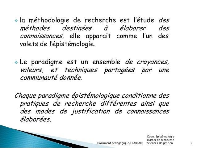 methodologie de recherche en sciences de gestion pdf