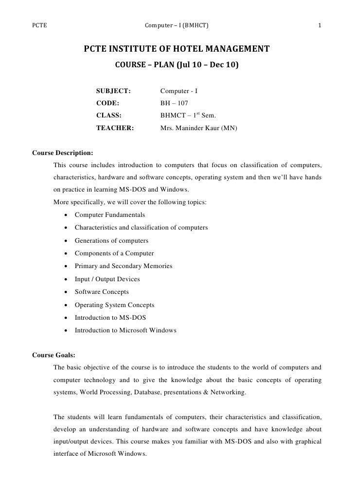 PCTE                                   Computer – I (BMHCT)                                      1                    PCTE...