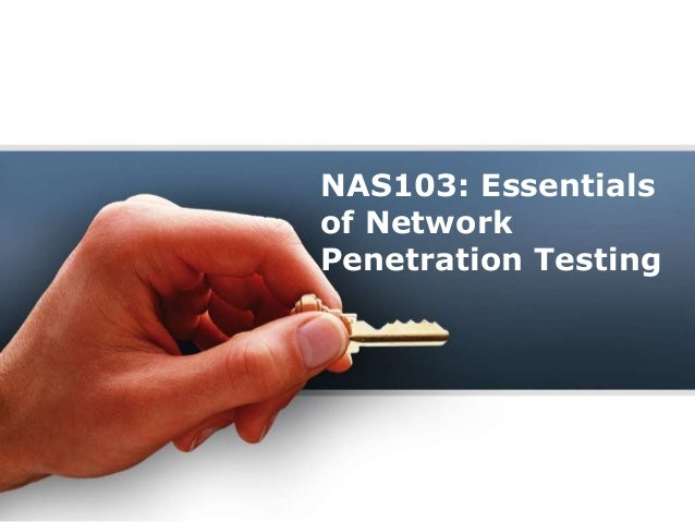 NAS103: Essentials of Network Penetration Testing
