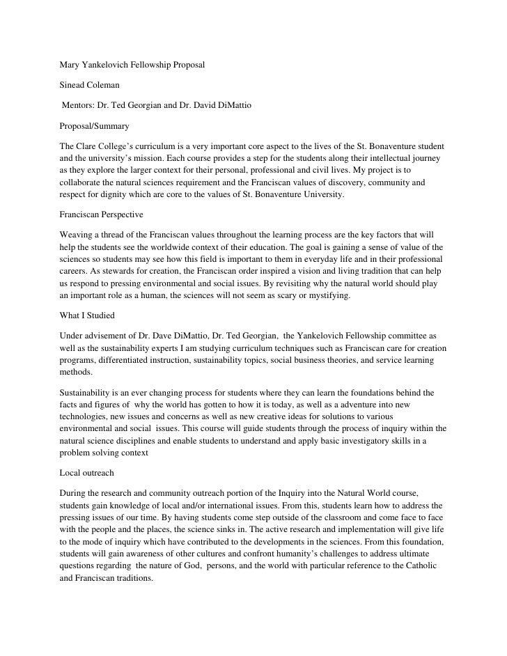 Mary Yankelovich Fellowship ProposalSinead ColemanMentors: Dr. Ted Georgian and Dr. David DiMattioProposal/SummaryThe Clar...