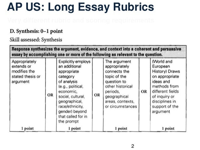 rubrics essay history Rubric for black history research project social studies/rela/math (famu) rela rubric students will research african americans that have made contributions to the.