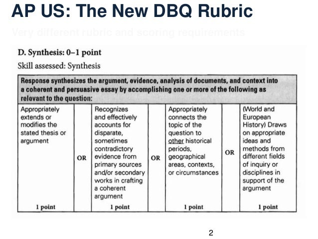 ap world essay rubric dbq View dbq apwh rubric - 2017 changes from y rt at ami kids rio grande valley (fka rgmi) name: _ apwh ap world generic dbq rubric (revised 2017) date: _ ms buffalino.