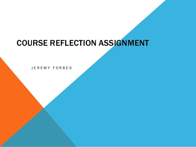 essay on reflection assignment