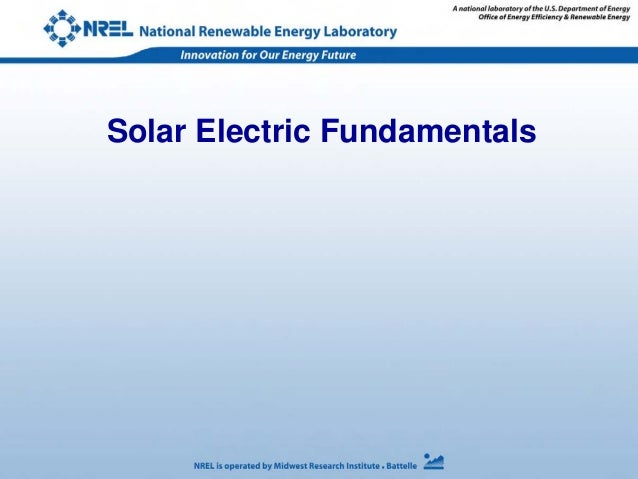 Solar Electric Fundamentals
