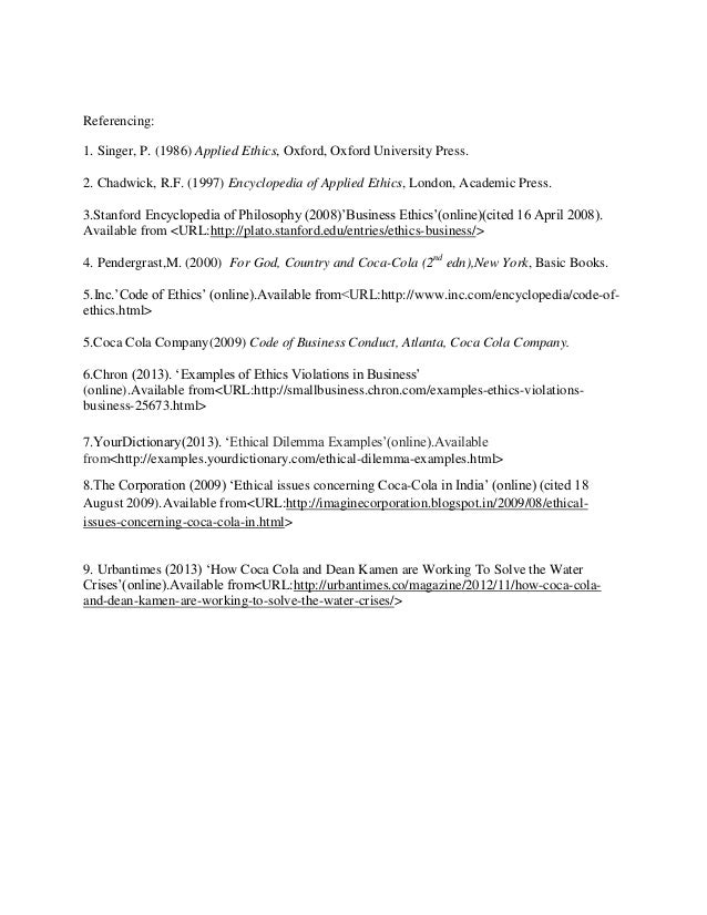 business ethics short essays